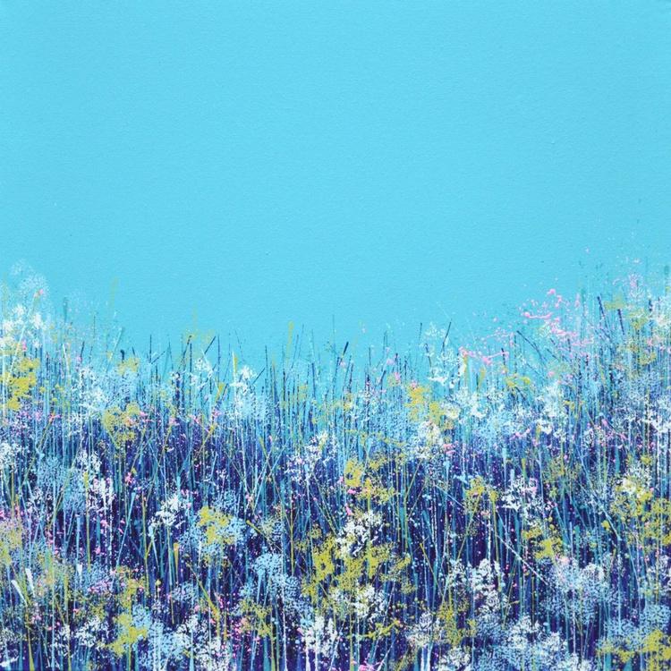 Wild flowers with aqua sky - Image 0