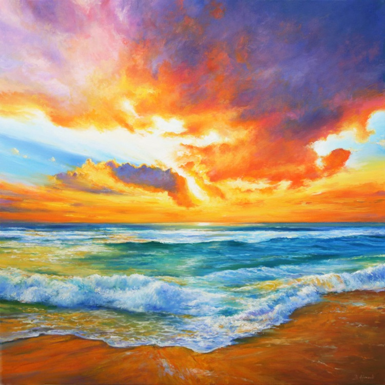 Towards the Sun - Large Painting - Image 0