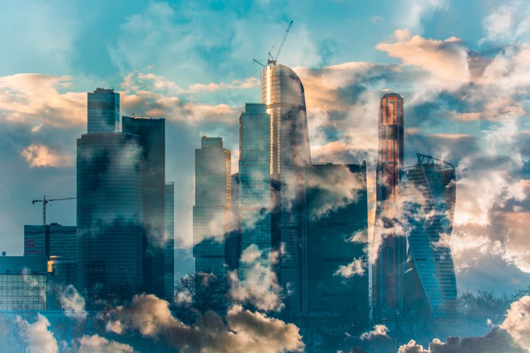 Moscow city in clouds - Image 0