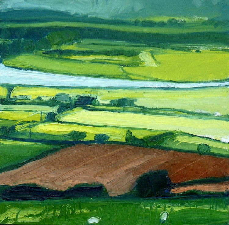 Light over Fields and Distant Rain - Image 0
