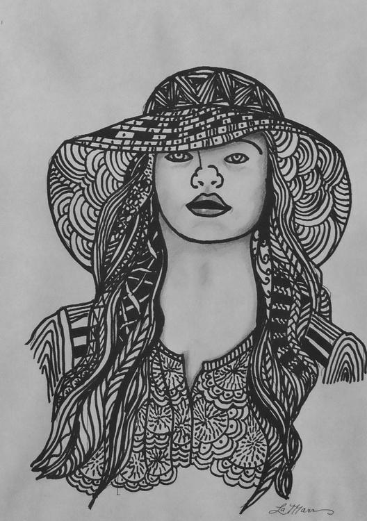 Zentangle Lady - Image 0