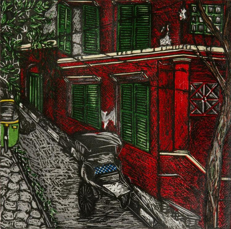 "Dwarkanath Ghosh Lane (12x12"") - Image 0"
