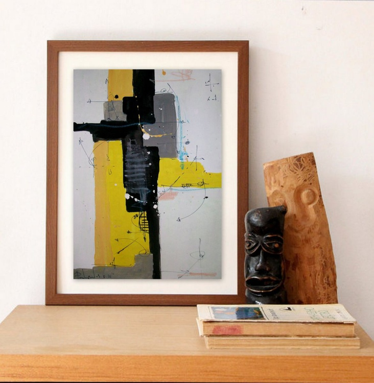 yellow VII, Abstract paper collection - Image 0
