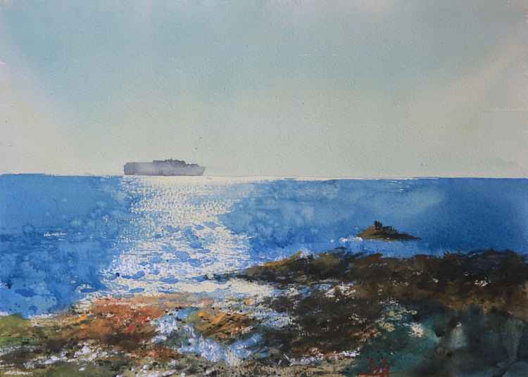 Seascape study, from Man Sands beach Devon