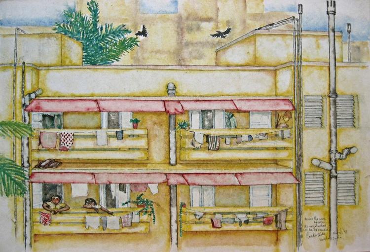 Across the way, balconies... - Image 0