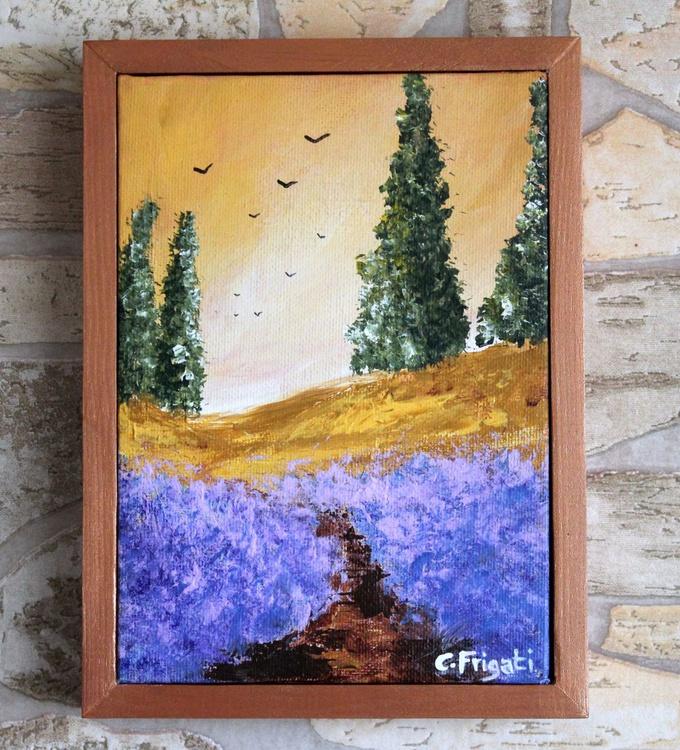 Tuscan Hills #3- original, framed landscape - Image 0