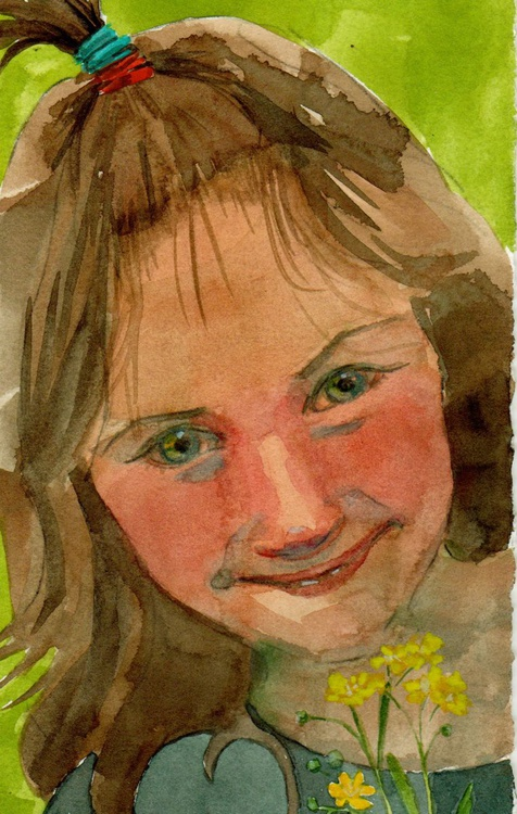 Hello, Buttercup! (unframed watercolour) - Image 0