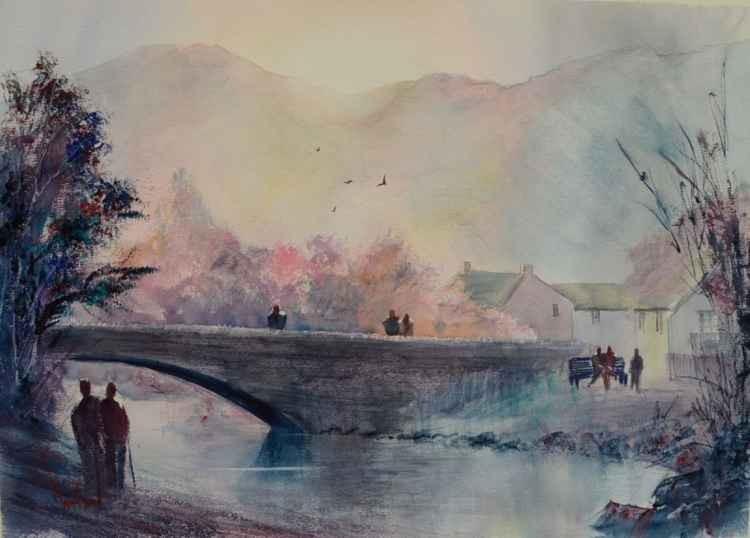 Grange In Borrowdale #7 - Original Watercolour Painting -