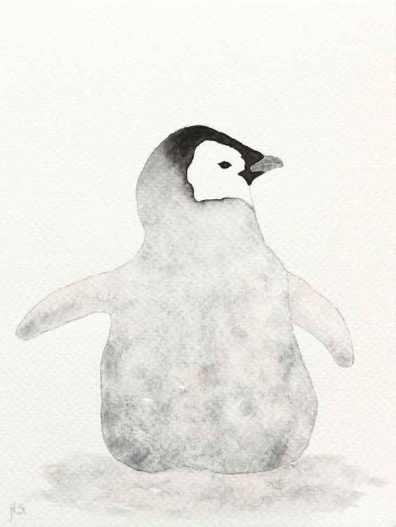 The emperor penguin chick -