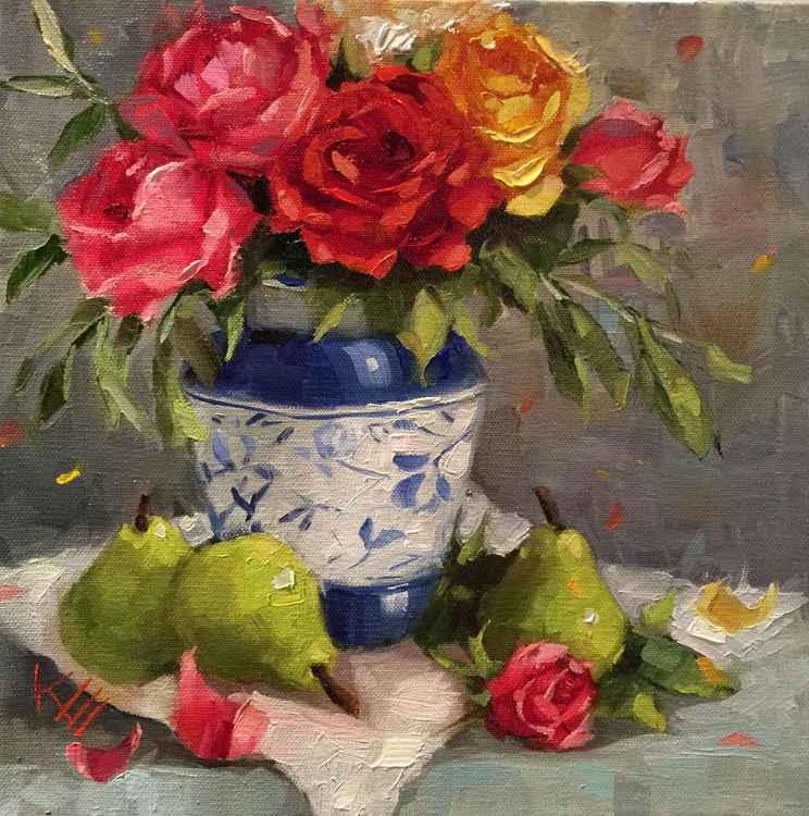Roses & Pears Still Life