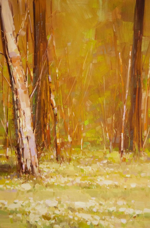Fall Landscape oil Painting One of a kind - Image 0