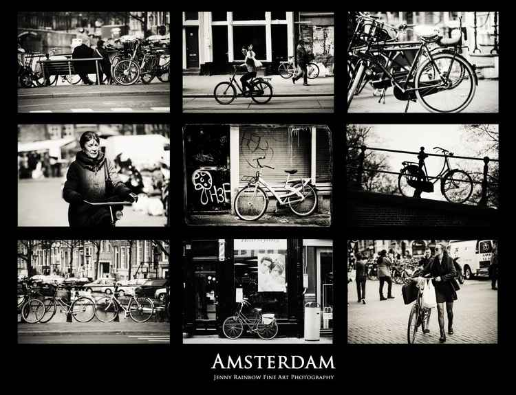 Amsterdam Bikes.  Amsterdam by Jenny Rainbow (Ltd Edition of only 25 Fine Art Giclee Prints from an original photograph)
