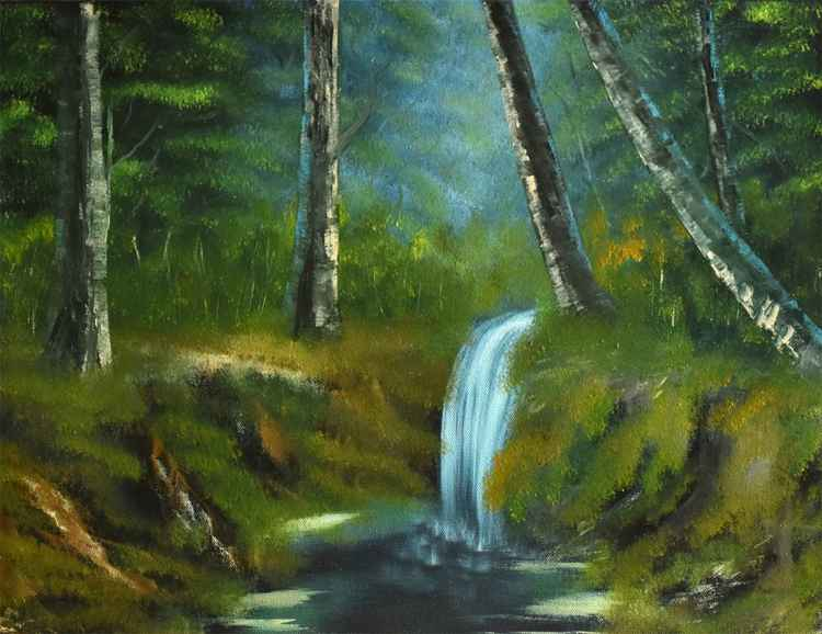 Forest waterfall -