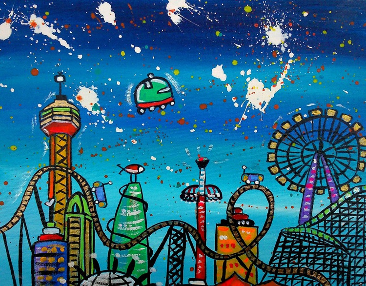 Roller Coaster City (commission) - Image 0