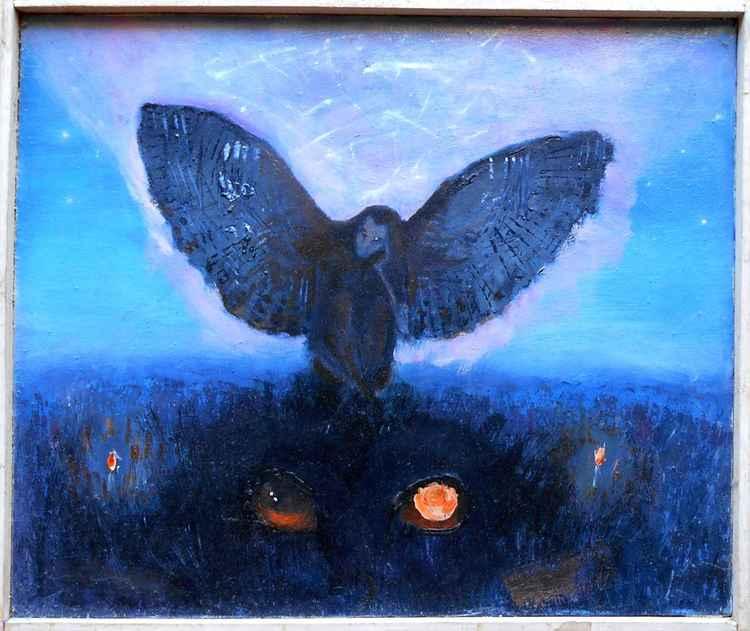 Dark Spirit on the fields -