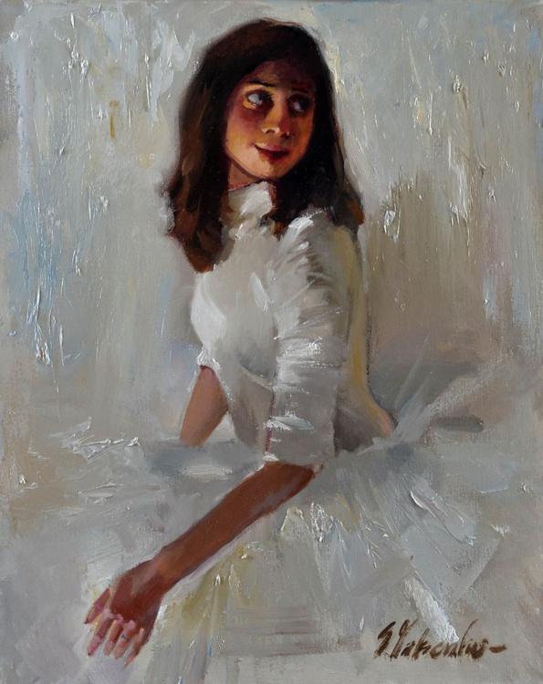 Ballerina on a white background - Image 0
