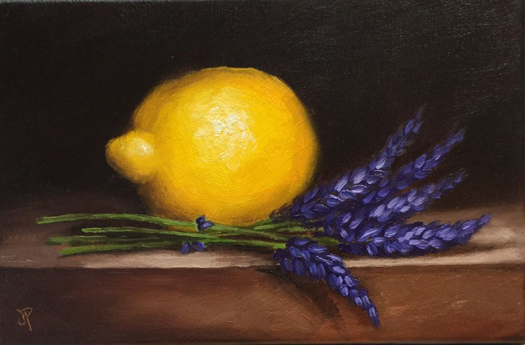Lemon with lavender, ready to hang - Image 0