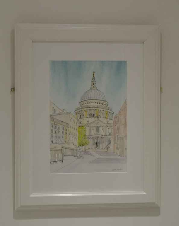 St Paul's Cathedral, London - Original Pen & Wash -