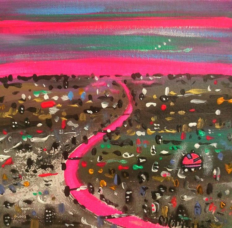 Far away pink city - Image 0