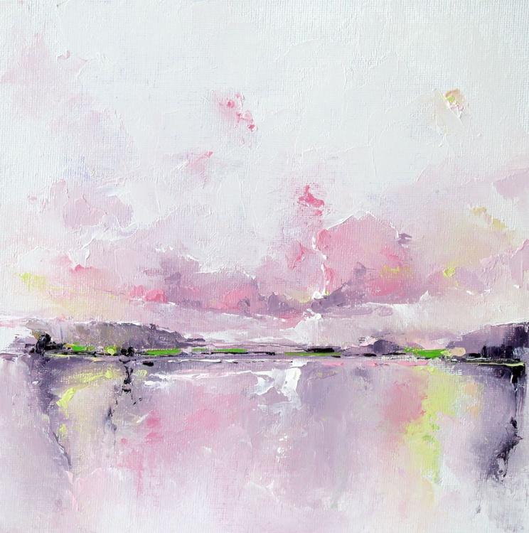 'Landscape Green & Pink 2' - Image 0
