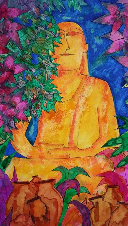 Buddha and Pots - Image 0