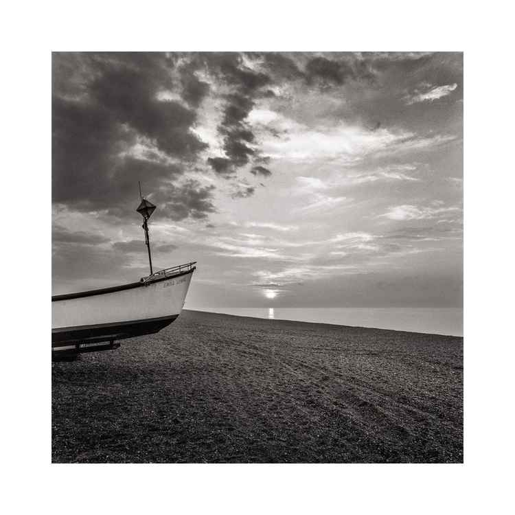 Blakeney Beach with Boat, Norfolk