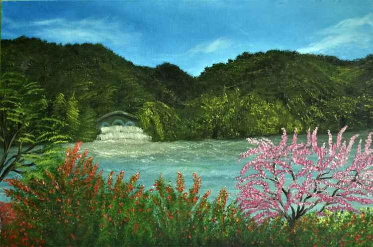 Green Mountain with Lake -