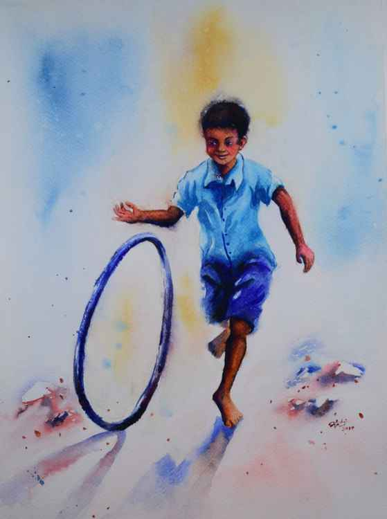 Boy with wheel