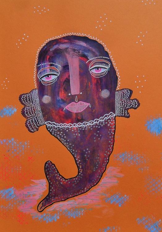 Purple Fish In An Orange Sea - Image 0