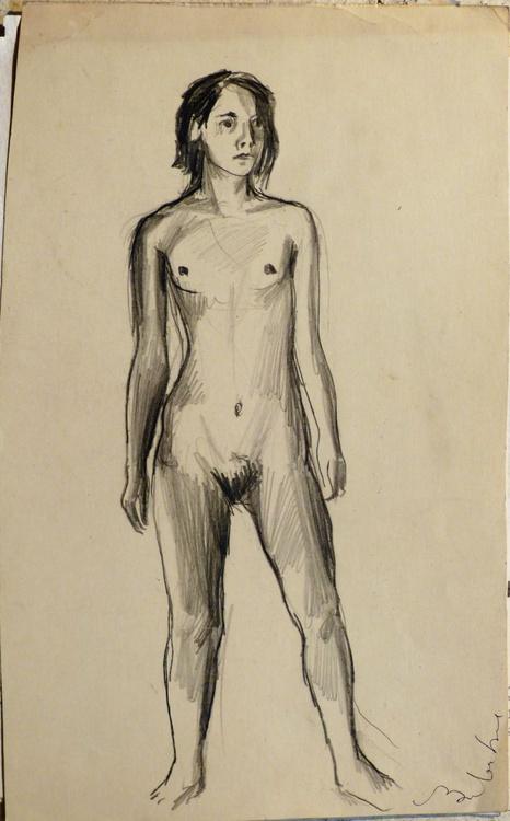 Standing Nude 4, 19x21 cm - Image 0