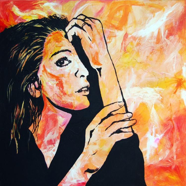 Come Save Me - Large Modern Woman Portrait - Image 0