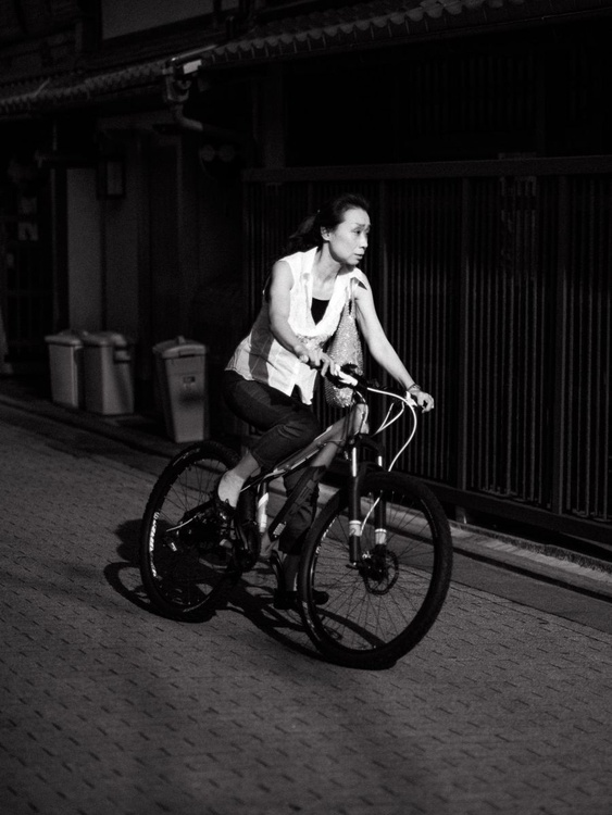 Woman on bicycle, from the Japan Notebook. - Image 0