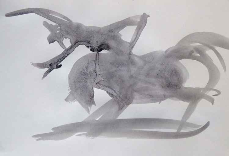 Western 3, wallpaper study 42x29 cm -