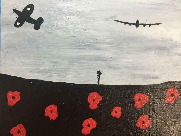 Lancaster spitfire salute