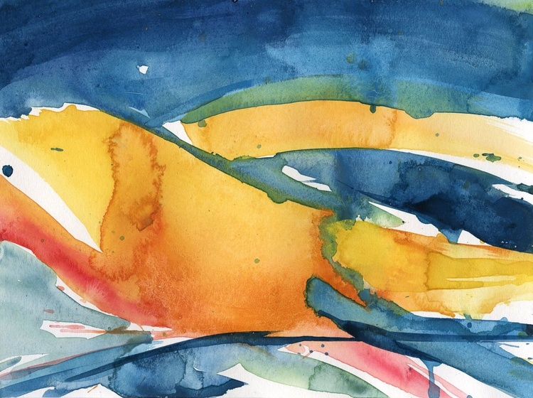 Serenity 16 - Abstract Watercolor Painting by Kathy Morton Stanion - Image 0