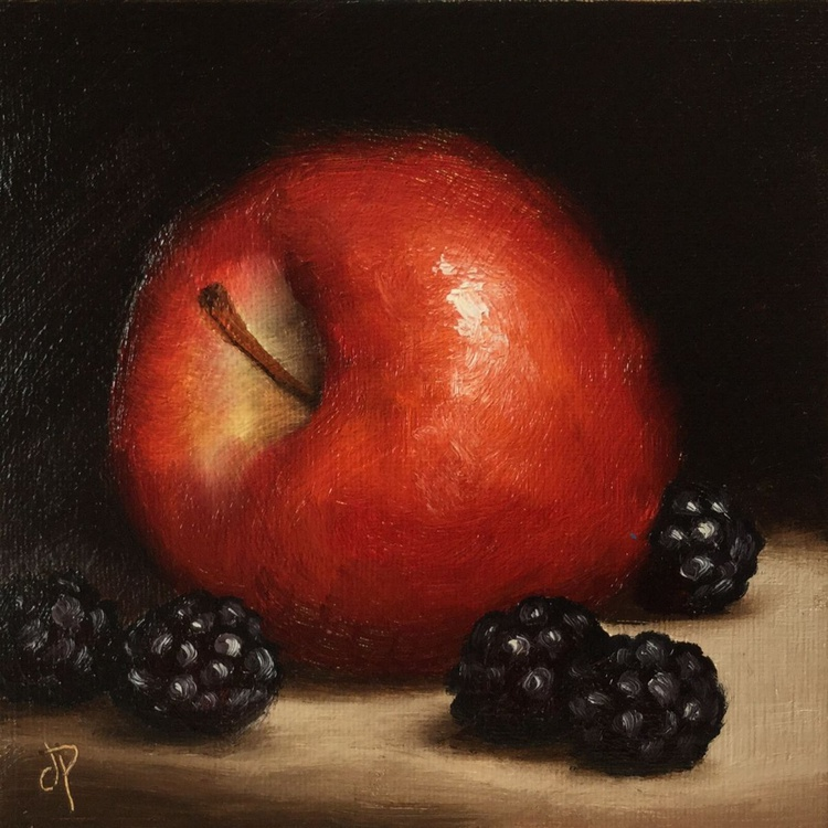 Red Apple with Blackberries - Image 0