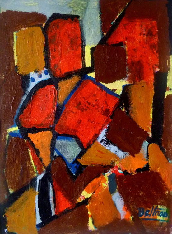 abstraction aux toits rouges - Image 0