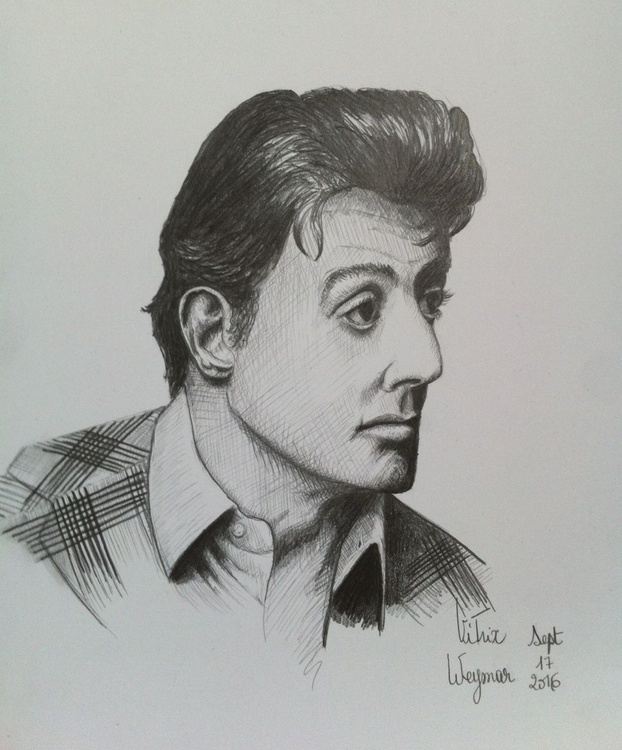 """""""The Man"""" (Sylvester Stallone). hyper realistic portrait. - Image 0"""