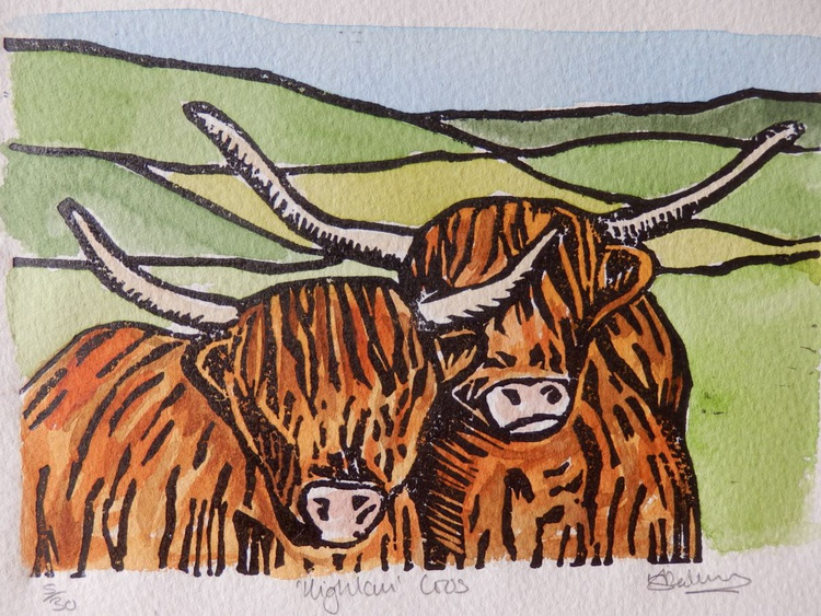 Pair Of Highland Coos - Image 0