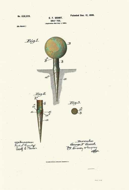 Golf Tee Patent - 1899 -