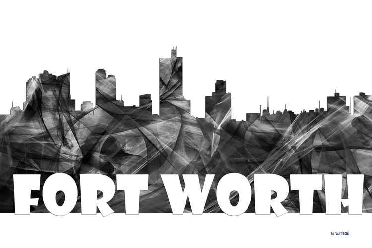 Fort Worth Texas Skyline -