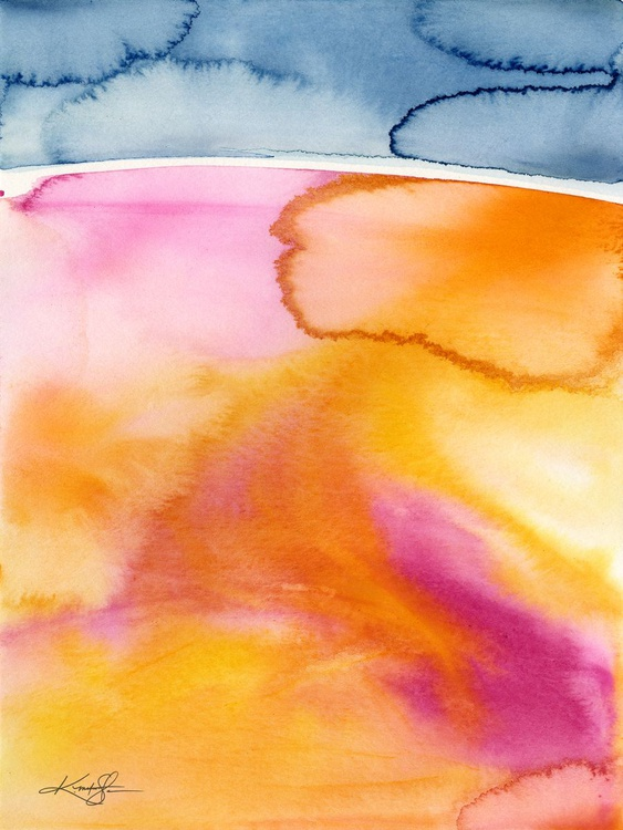 Finding Harmony 9 - Abstract Watercolor Painting - Image 0