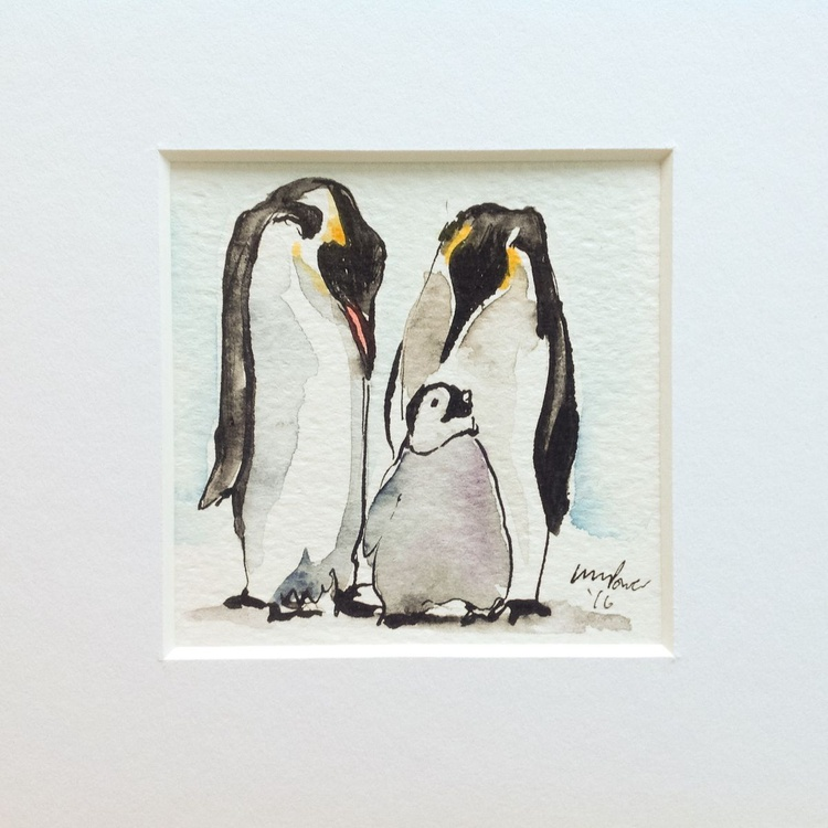 'Go play! ' - miniature penguin Art - Image 0