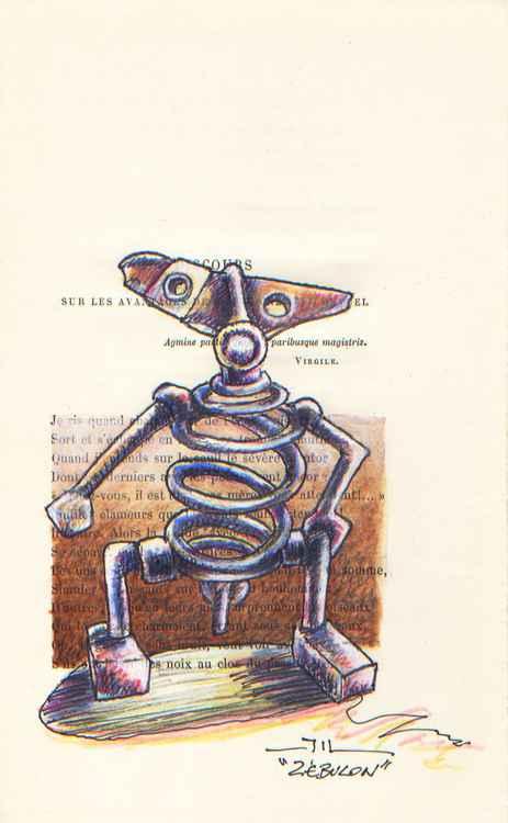 Zébulon (sketch of sculpture ) -