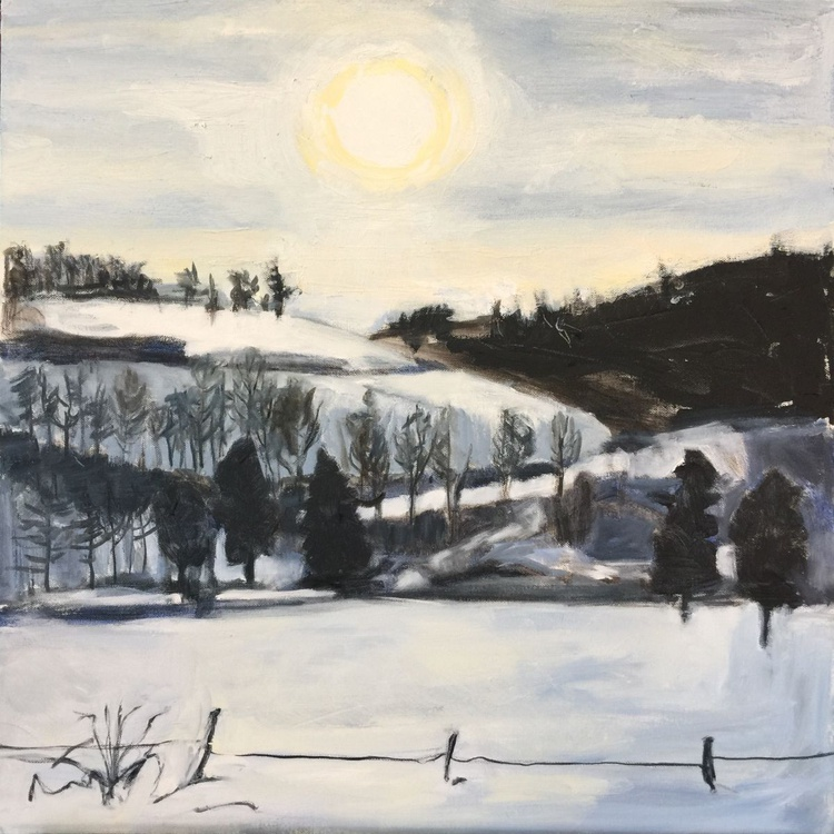 Snow Covered Hill Side - Image 0