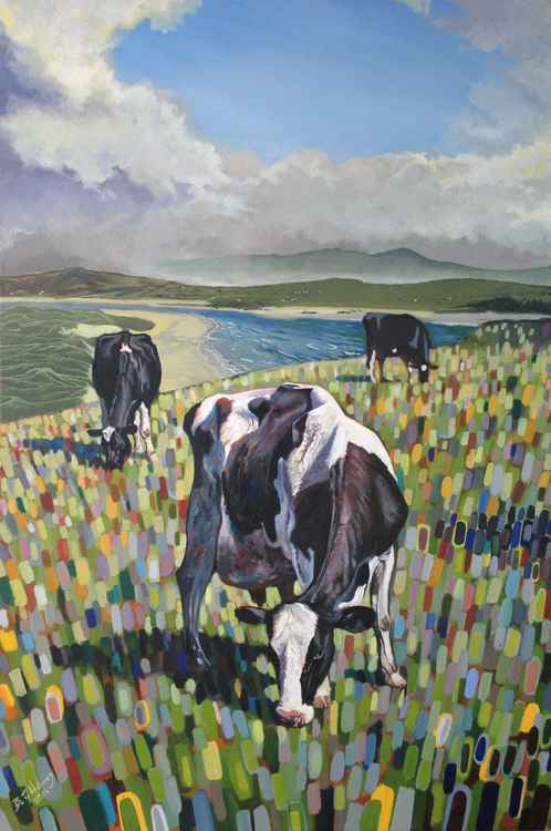 Cows Grazing at Lag -