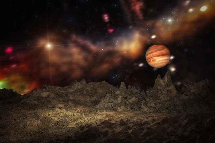 A jupiterian spacescape -