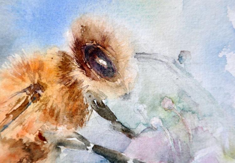 BEE'S JOB original watercolour 32x24 - Image 0