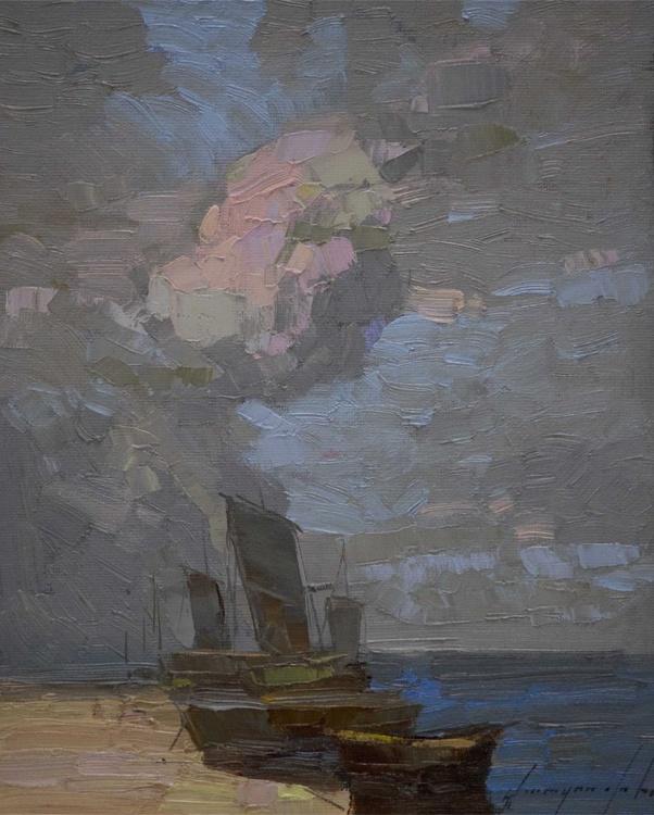 Sail Boats Original Handmade Painting Signed - Image 0
