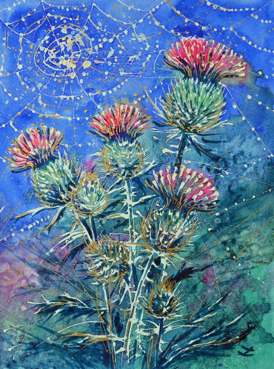 Thistle in the Morning Dew - Image 0